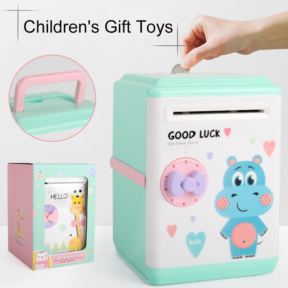 Innovative Piggy Bank Intelligent Automatic Opening Password Vouchers New Exotic Children's Christmas Gift Toys