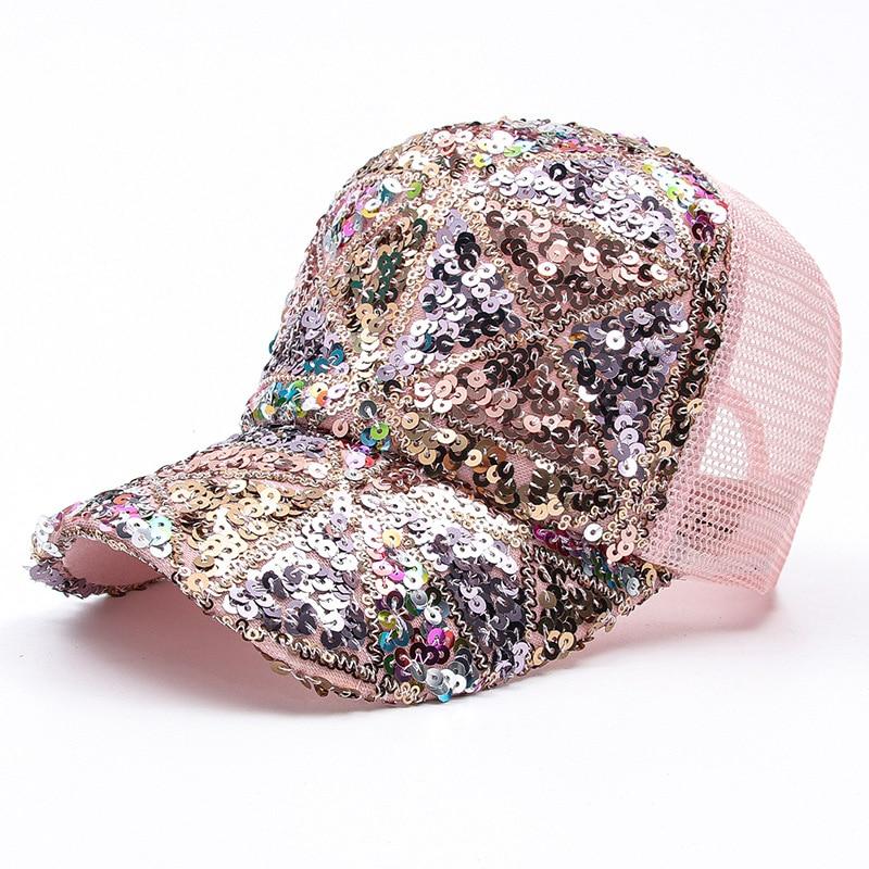 Sequin Hat Women Female Summer Sun Hat Wild Sunscreen Baseball Caps Show Face Small Fashion Korean Version Cap Sun Hat Snapback