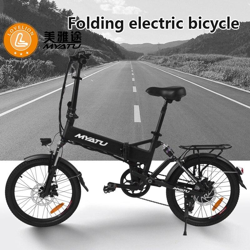 Livraison MYATU de l'usine de l'ue 20 ''vélo électrique pliant puissant moteur VTT neige haut vélo marque dérailleur ebike
