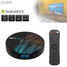 New HK1 Max Android 9.0 Smart TV Box 4G 64G Quad Core 4K Wifi BT4.0 Google Play Store Netflix Youtube Set Top Box Media Player android 7 1 smart tv box rk3328 4g 32g ricevitore tv 4 k 2160 p 3d wifi media player play store netflix youtube iptv set top box