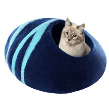 For Cats Animals Supplies Dog Cat Bed Cave Sleeping Bag Egg Shape Felt Cloth Pet House