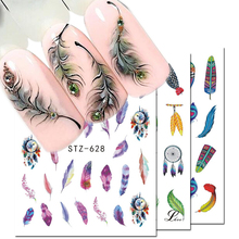 1pcs Water Decals Nail Art Sticker Dream Catcher Feather Watermark Adhesive Sliders Tips Wraps Decoration Manicure BESTZ628 644
