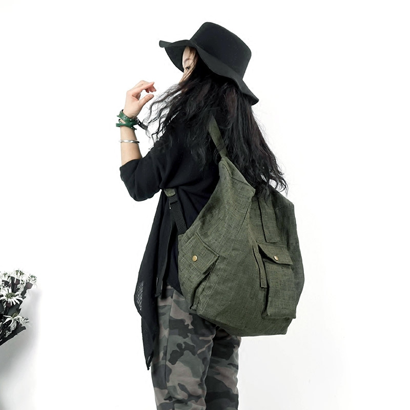 New Women Preppy Large Backpack Canvas Nylon Travel Backpack Male Mochila Escolar Girls Laptop Backpack School Bags For Teens
