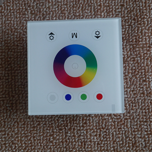 Image 3 - DC12V 24V single color/RGB/RGBW wall mounted Touch Panel Controller glass panel dimmer switch Controller for LED RGB Strips lamp