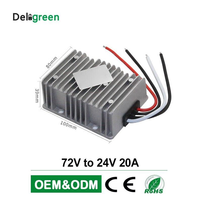 DC DC abaisseur convertisseur 72V à 24V 20A large entrée convertisseur alimentation