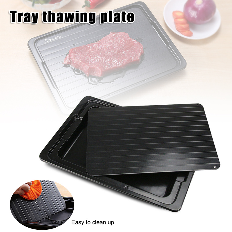 Fast Defrosting Tray With Meat Defrost Food Thawing Plate Board Kitchen Tool Store