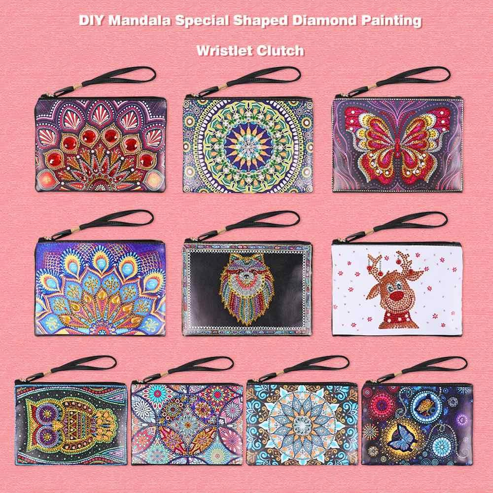 Поделки, специальная форма, алмазная живопись, браслет, кошелек, женская сумка, алмазная живопись, вышивка крестиком, кошелек, рождественские подарки