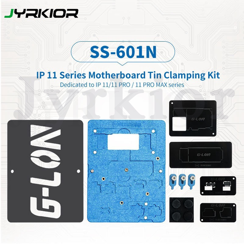 SUNSHINE &G-LON Planting Tin Template BGA Reballing Stencil For IPhone 11/11Pro/11Pro Max Motherboard IC Soldering Repair Tool