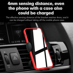 Image 5 - 自動車電話ホルダー15ワット無線車の充電器iphone用スタンド12 12プロ11電話ブラケット高速充電空気出口電話アクセサリー