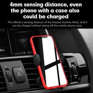 Image 5 - Araç telefonu tutucu 15W kablosuz araç şarj cihazı iPhone için standı 12 12 Pro 11 telefonu braketi hızlı şarj hava çıkış telefon aksesuarları