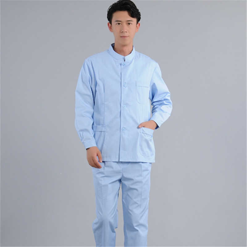 Medical Doctor In The Dental Department Of Traditional Chinese Medicine Is Wearing A Blue Collar Suit And Short Sleeve Work Suit