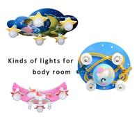 Crianças lustre arco íris dos desenhos animados personalidade azul para crianças quarto lâmpada menino menina música nuvem criativo lustre e27 Luzes de pendentes     -