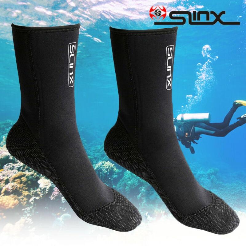 SLINX 3mm Diving Socks Surfing Snorkeling Swimming Unisex Neoprene Stretch Wear Resistant Anti Scratch Swimming Socks
