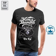 Kral elmas göz 1990 mor T Shirt boyutları S 5Xl % 100% pamuk erkekler komik O boyun kısa kollu T gömlek 021440