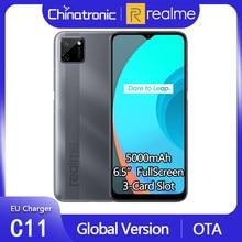 Realme c11 2gb 32gb versão global android 10 telefone celular 6.5