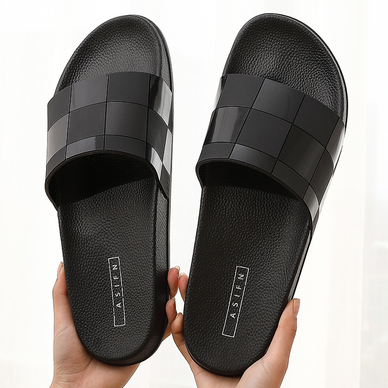 Luxury Brand Design Men Slippers Indoor Home Hotel Slippers Women Man Bathroom Slides Summer House Shoes Ladies Plus Size 46