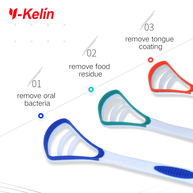 2020 new Y-Kelin Tongue Scraper Tongue Brush cleaner Oral cleaning tongue toothbrush  brush Fresh Breath remove tongue coating 3
