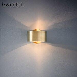 Image 2 - Современный роскошный золотой настенный светильник, светодиодный настенный светильник, настенные светильники, зеркальный светильник s для дома, арт деко, лофт, промышленный светильник, светильник для лестницы