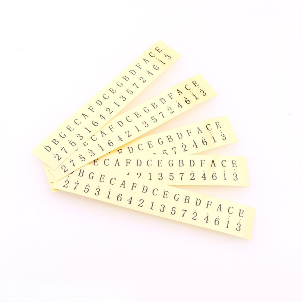 Kalimba Thumb Piano Keyboard Sticker Transparent Note Sticker 17 Keys Kalimba Mbira Keyboard Key Sticker On For Beginner