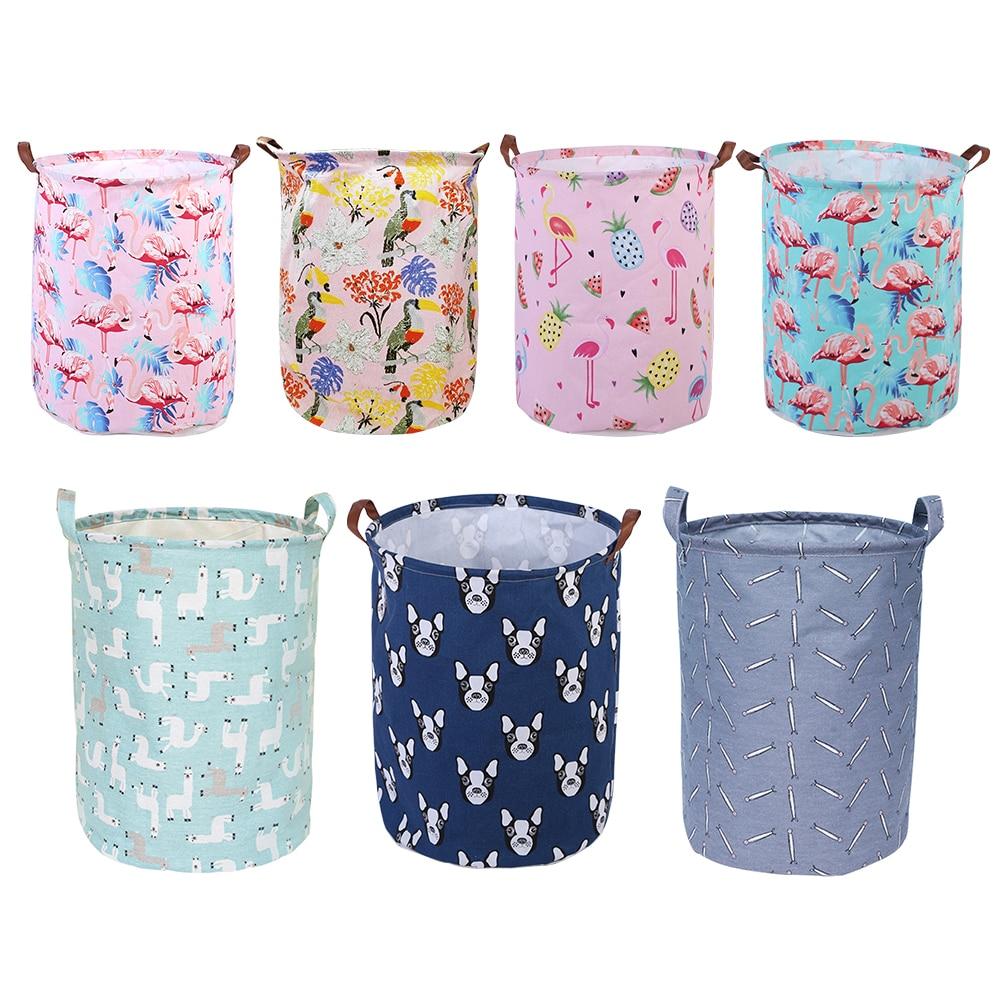 40x50cm Large Capacity Folding Laundry Basket Round Storage Bin Bag Large Hamper Collapsible Clothes Toy Holder Bucket Organizer