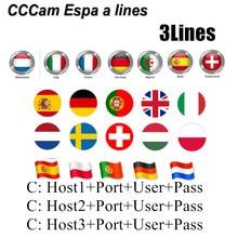 Best CCCam 3 line for Europe Spain Netherlands Poland Austria UK Astra Satellite TV 3 lines Freesat V7 CCCam Server