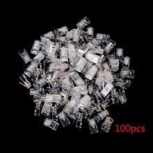 Banhado a ouro rj45 rede rede modular tomada cat5 cat5e conector 8p8c utp unshielded modular rj45 plug novo 25/50/100/200/500 peças