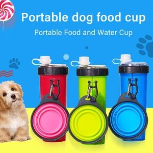 Portable 2 in 1 Pet Food Water
