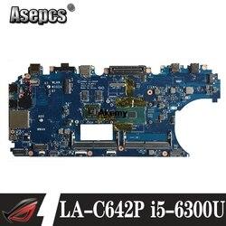 CN-0WK23X WK23X dla For DELL Latitude E5570 Laptop płyta główna ADM80 LA-C642P REV: 1.0 (A00) I5-6300U płyta główna notebook PC