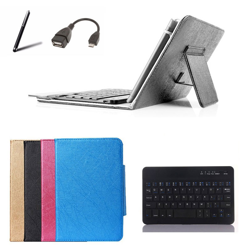 Wireless Keyboard Cover Stand Case for Micromax Canvas Tab P690 8 inch Tablet Case Bluetooth Keyboard +OTG+Stylus