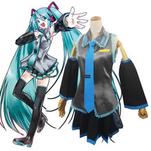 HISTOYE Cosplay Costume Hatsune--Miku VOCALOID MIKUCOS Cosplay Clothing Maid Outfit for Women Halloween Costume Party new 2019 vocaloid hatsune miku cosplay costume snow miku cosplay fancy dress full set carnival halloween costumes for women s xl