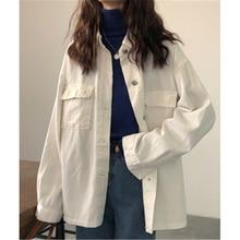 2019 New Fashion Women Corduroy Jacket Solid Shirt Single Breasted Turn down Collar Long Sleeve Pocket Button Feminina corduroy single breasted dual pocket skirt