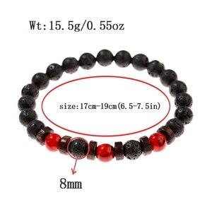 Image 5 - Классические браслеты из черной лавы и Красного камня, мужские молитвенные аксессуары для медитации, женские Украшения для йоги, Прямая поставка
