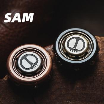 LAUTIE SAM Ring Gyro Devil's Son Fingertip Decompression EDC Finger Rotation Black Technology Toy