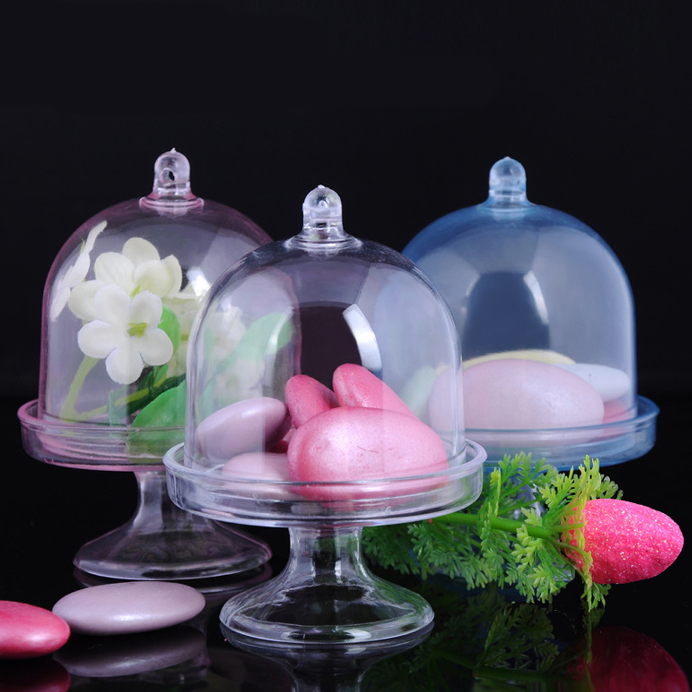 12pcs/Lot Transparent Plastic Tray Candy Box For DIY Wedding Candy Box Baby Shower Birthday Guests Gift Box Party Supplies P20