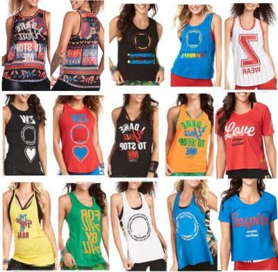 S M L Woman Dance Vest Sunrise Loose Tank Racerback T1803 1804 1805 1800 1802 1801 1821 1811 1806