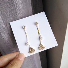 S925 needle New Design Jewelry Earrings For Women Fashion Shiny Clear Crystal Pearl Drop Party Wedding Gifts Hot Sale
