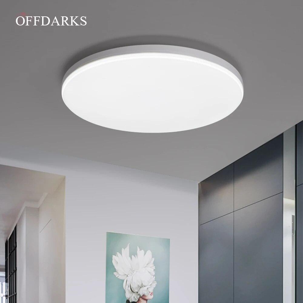 OFFDARKS светодиодный потолочный светильник 5000 K натуральный белый 12 Вт/24 Вт/36 Вт, встраиваемый потолочный светильник для спальни, коридора, кух...