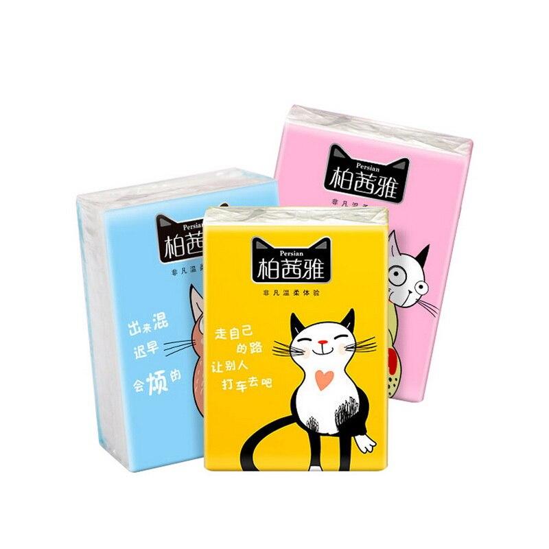 (20Packs)  Soft Paper Napkin Wholesale Handkerchief Paper Towels Packs Tissues