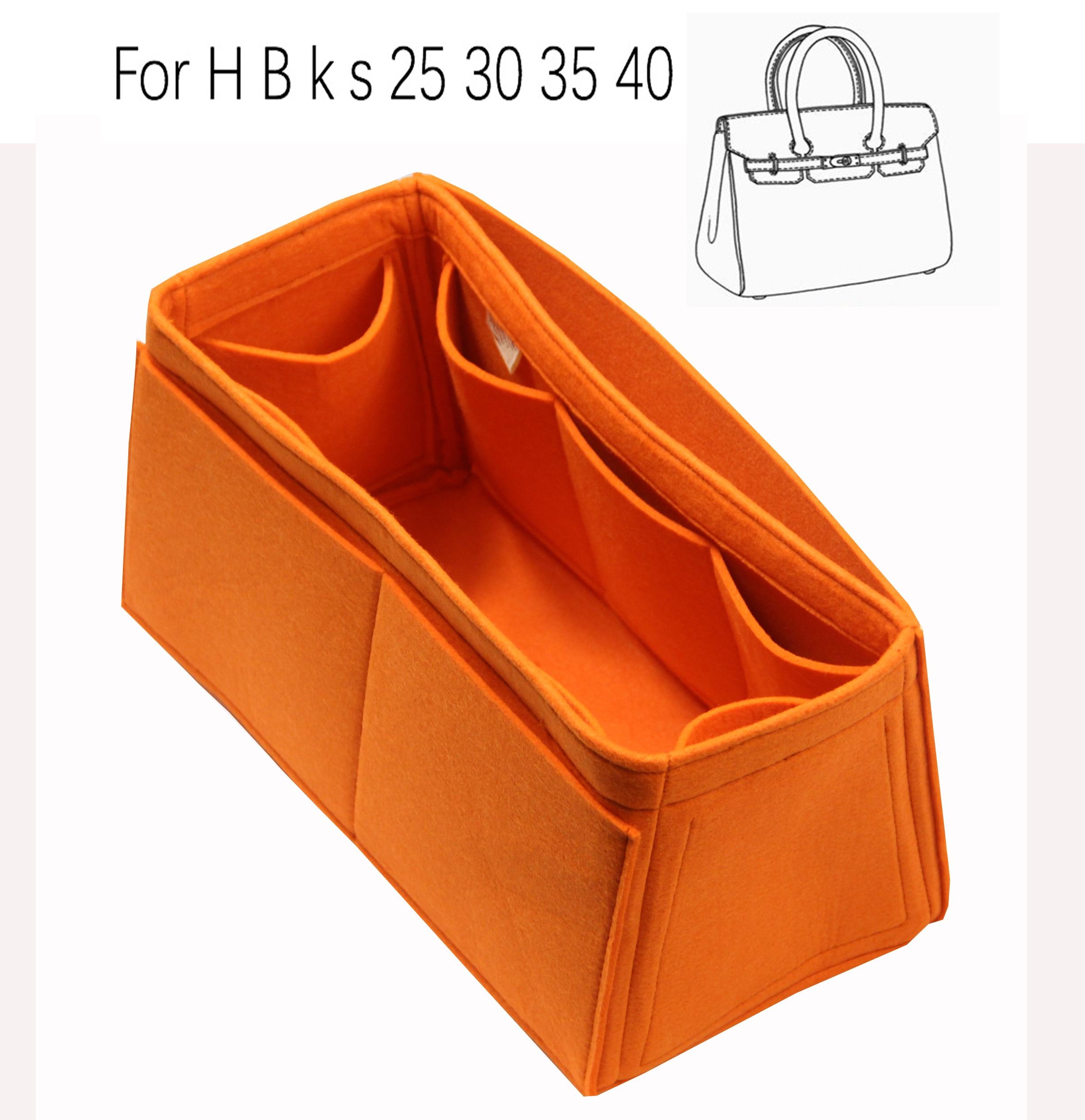 Для H 25 Бир 30 k s 35, 40 ручной работы 3 мм фетровая Вставка сумки Органайзер для макияжа Сумки из натуральной кожи организовать Портативный Косм...