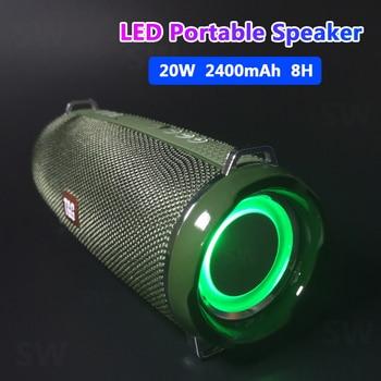 Portable Speakers Bluetooth Column Wireless Bluetooth Speaker Powerful High BoomBox Outdoor Bass HIFI TF FM Radio with LED Light аудио колонка bluetooth sruppor tf bluetooth speaker