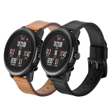For AMAZFIT 1 or 2 Watch Strap 22mm Super Good Quality Bracelet Top Layer Cow Leather Knife Tail Replaceable Watch Band geronimo stilton cavemice 2 watch your tail