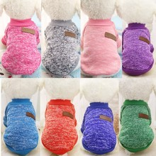 1 pc Dog Clothes Colorful Autumn Winter Warm Soft Sweater Clothing For The poodle Pet dog cold-proof