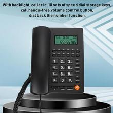 Telephone Phone-Display Landline Office Caller-Id Home Hotel for Restaurant Black L109