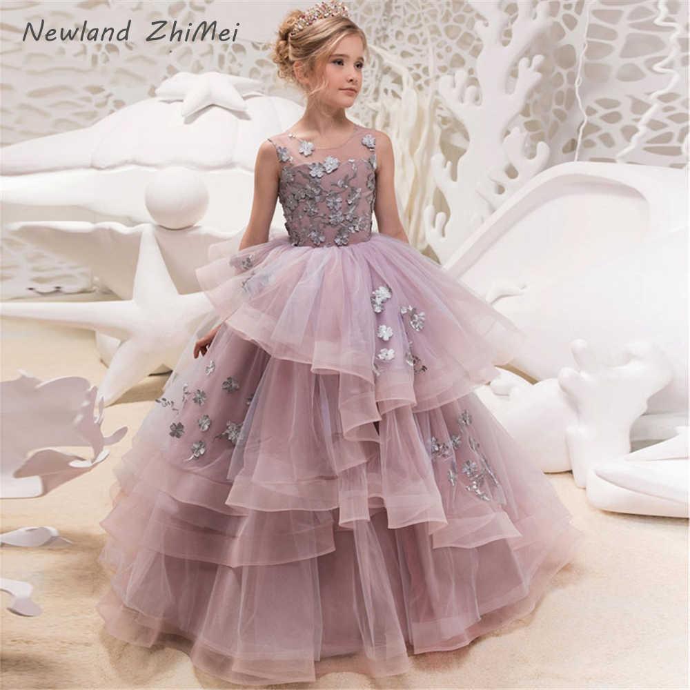 Robe Mariage Enfant Fille 2020 New Arrival Floor Length Flower Girl Dresses Lovely Applique Tulle Pageant Dresses For Girls Flower Girl Dresses Aliexpress