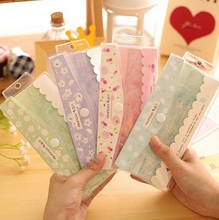 4 Pcs/set  vintage Floral Style Ruler Stationery Set Plastic ruler set Office School Student Kids Drawing tools
