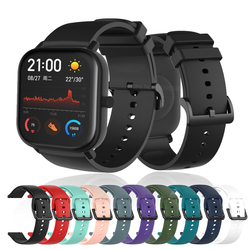 20MM Colorful Silicone Watchband Sport Strap for Xiaomi Huami Amazfit GTS/GTR 42mm/Bip Lite Smart Watch Bracelet Band Replace