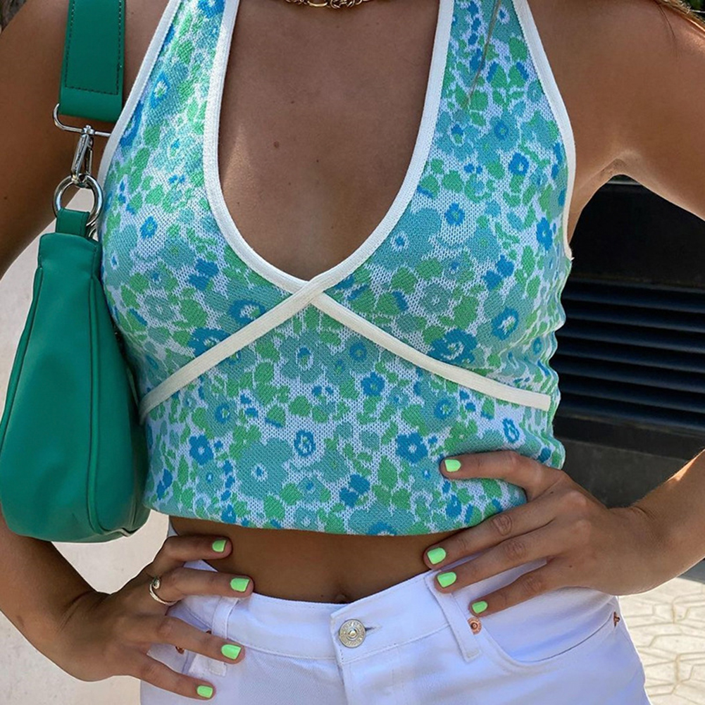 YiYiMiYu Floral Knitted Crop Top Y21k Aesthetic Corset Top ...