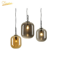 Postmodern LED Glass Pendant Lamp Lighting Fixture Nordic Attic Pendant Light Living Room Bedroom Indoor Lamp Decor Hanging Lamp