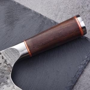 Image 4 - Нож мясника из нержавеющей стали 5CR15MOV, китайский кухонный нож, поварские инструменты с деревянной ручкой