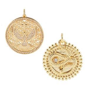 Монета с изображением орла, Подвески для изготовления ювелирных изделий, оптовые поставки, металлический дракон, кулон, сделай сам, серьги, ...
